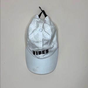 """PINK White """"Vibes"""" Hat"""